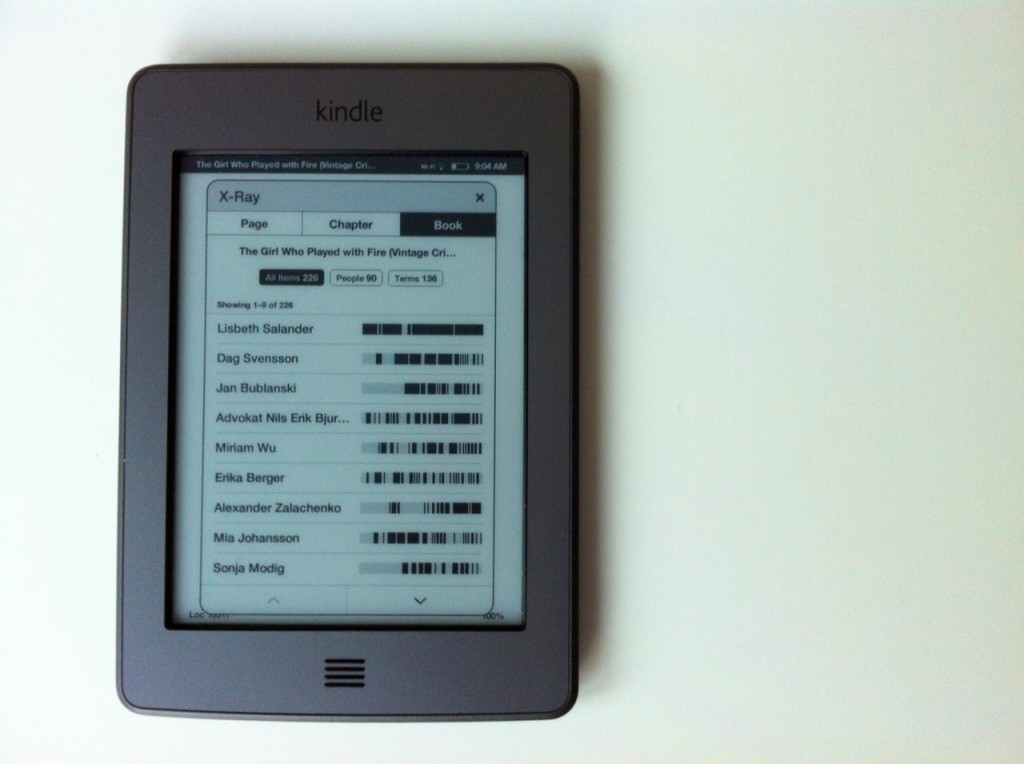 Kindle Touch xray